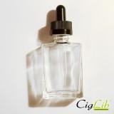 Bouteille verre rectangulaire pour DIY 30 ml