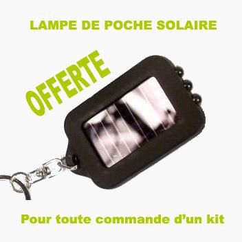 Cette lampe solaire vous est offerte pour l'achat de ce kit